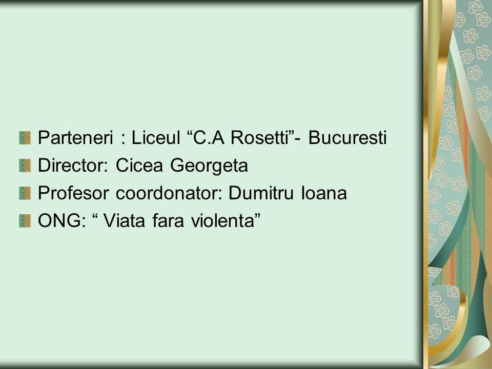 12 ECHIPA 3 – clasa a-IX-a G – Liceul Teoretic C.A. ROSETTI